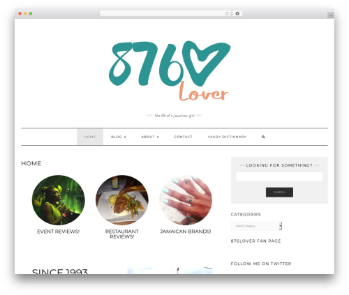 Kale WordPress template - 876lover.com
