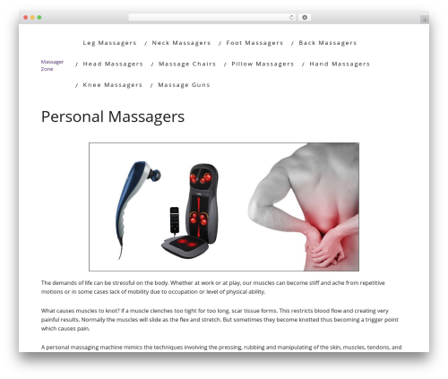 Minus massage WordPress theme - massagerzone.com