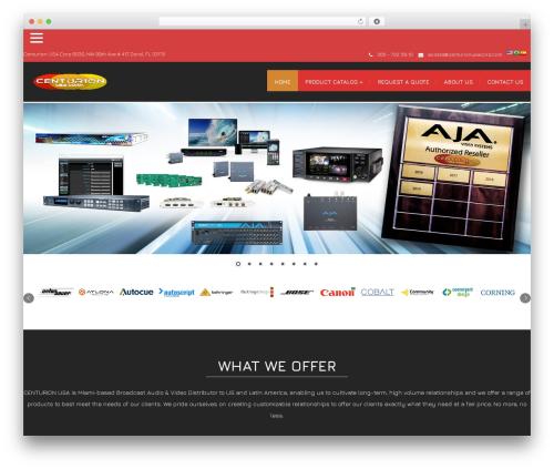 Modality Pro WordPress page template - centurionusacorp.com