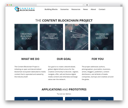 Page Builder Framework WordPress theme - content-blockchain.org