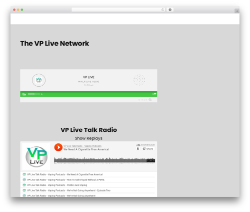 Podcast best WordPress template - vplivenetwork.com