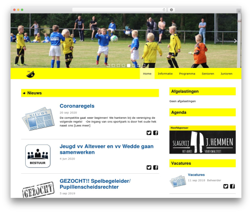 Redesign Sportlinkclubsites WordPress theme - vvalteveer.nl