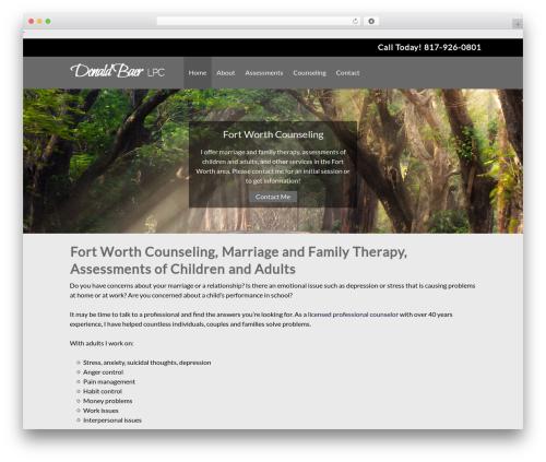 Small Business Blueprint Theme WordPress template for business - donaldbaer-fortworthcounselor.com