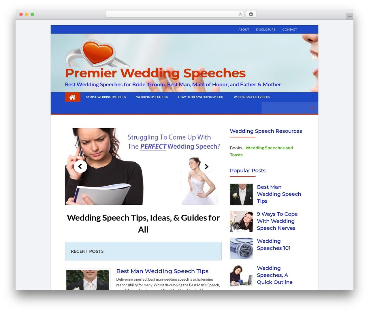 Socrates 5 Child WP template - premierweddingspeeches.com