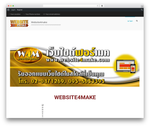 Suffice Pro premium WordPress theme - website4make.com