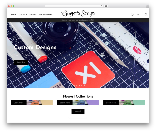 Themify Shoppe WordPress ecommerce theme - gingers-scraps.com