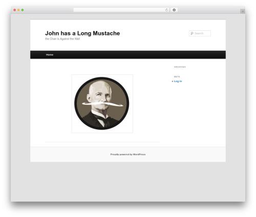 Twenty Eleven best free WordPress theme - johnhasalongmustache.com