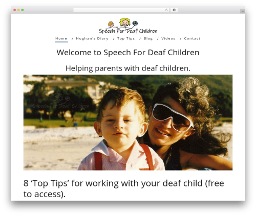 WordPress theme Minus - speechfordeafchildren.com