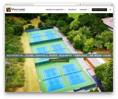 You WordPress website template - vintagecontractors.com