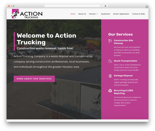 Aspen Roots WordPress template for business - actiontrucking.com