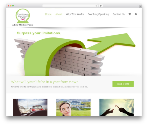 Avada WP template - adatewithyourfuture.com