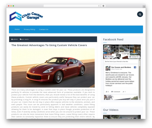 Best WordPress template Fabify - civiccentergarage.com