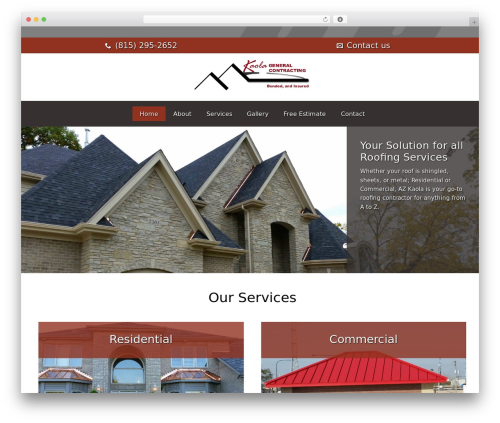 Best WordPress template Roofing - azkaolageneralcontracting.com