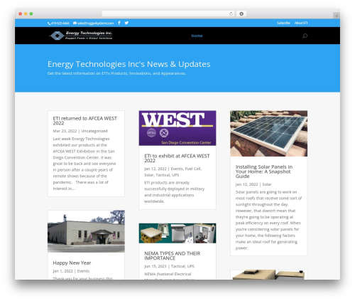 Best WordPress theme Divi - energytechnologiesinc.com