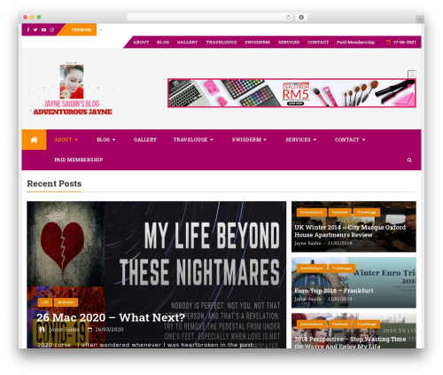bFastMag Pro best WordPress template - jaynesaidin.com
