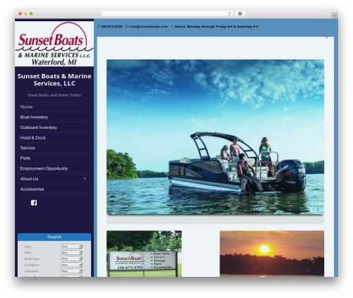 boatdealer theme WordPress free - sunsetboats.com
