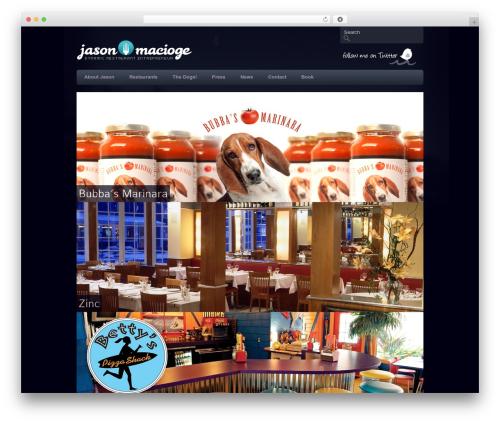 Clean Slate WordPress restaurant theme - jasonmacioge.com