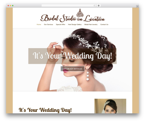 Divi best wedding WordPress theme - bridalstudioonlocation.com