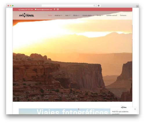 Divi WordPress travel theme - jucotravel.com