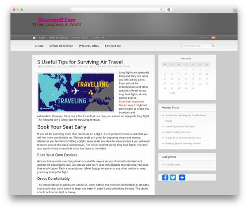 Headlines (Provided by Zazavy.com) template WordPress - sourceo2.com