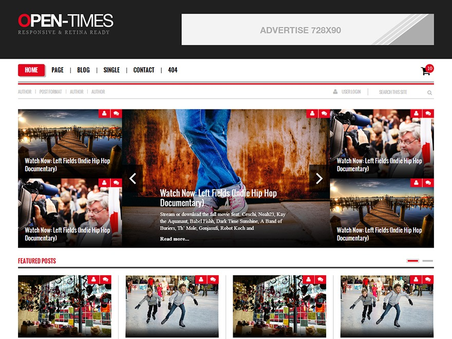 OpenTimes WordPress magazine theme