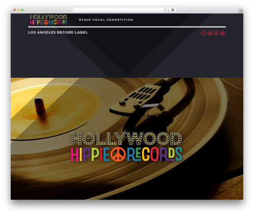 Sonik WP template - hollywoodhippierecords.com