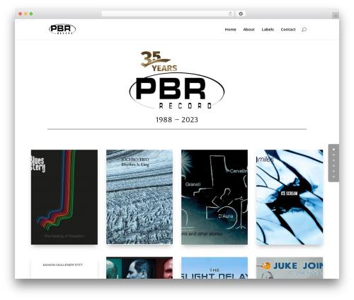 Template WordPress Divi - pbr-record.com