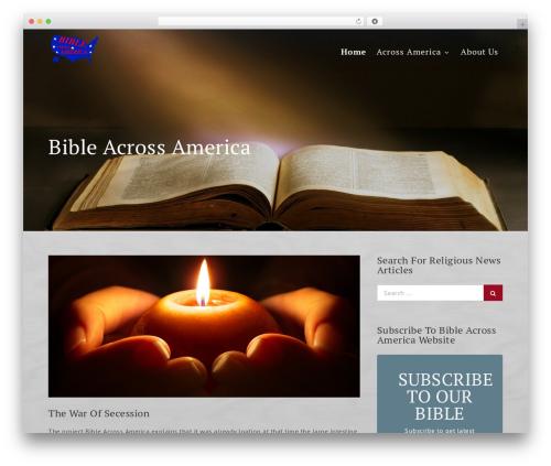 Template WordPress Uni Education - bibleacrossamerica.com