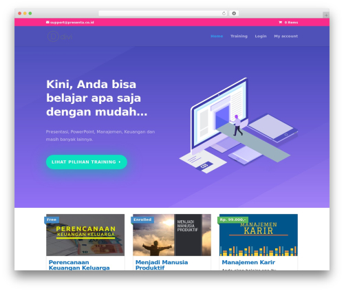 Theme WordPress Divi - kursusmanajemen.com