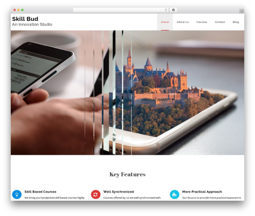 Veda best WordPress theme - skillbud.com