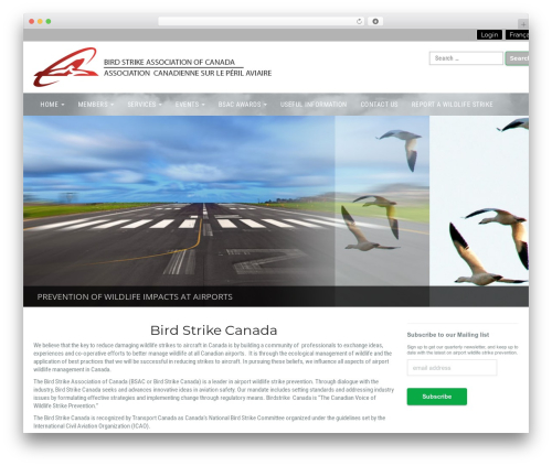 WordPress theme Businessup - canadianbirdstrike.ca