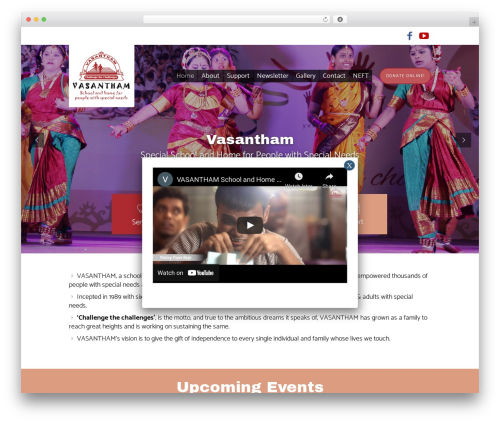 WordPress theme Children Charity - vasantham.org
