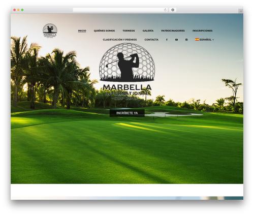 WordPress website template N7 Golf Club - marbellainternationalcup.com