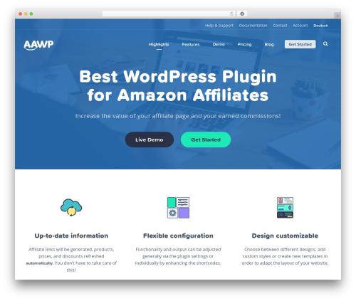 AAWP Website template WordPress - getaawp.com