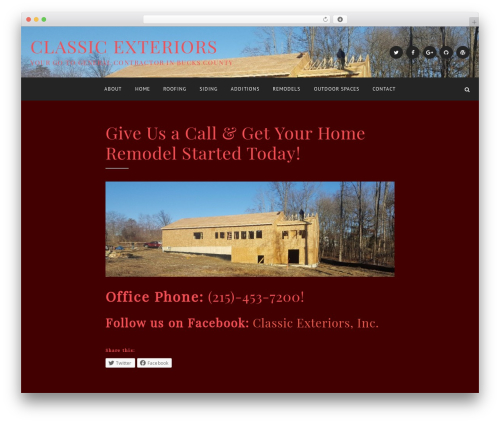 Anemone best WordPress theme - classicexteriorsinc.com