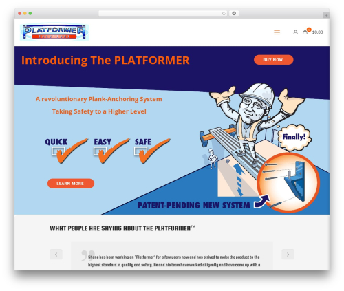 Best WordPress template Betheme - platformersolutions.com