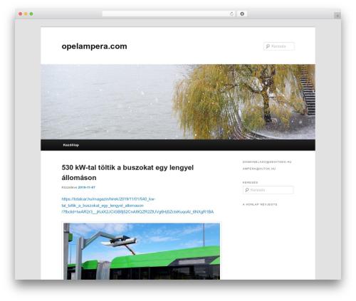 Best WordPress theme Twenty Eleven - opelampera.com