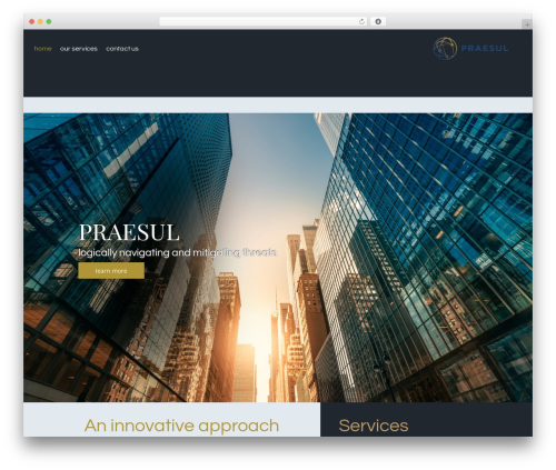 Callaway theme WordPress - praesul.com