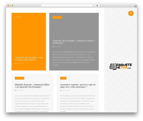ClubFitness WordPress website template - enquetedejob.com
