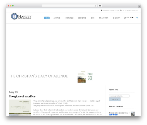 Conica free WordPress theme - harveycp.com