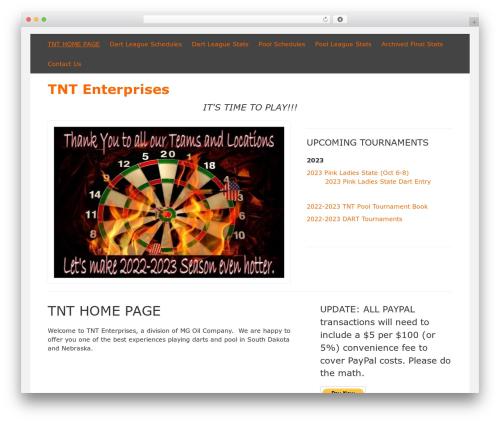 DarkOrange WordPress template free - tntwagner.com