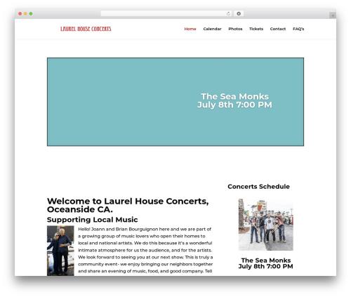 Divi WordPress theme - laurelhouseconcerts.com
