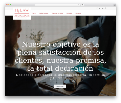 Extent best WordPress theme - h2lawabogados.es