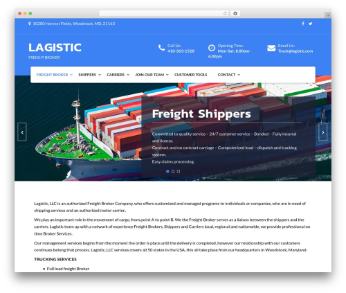 Fetch business WordPress theme - lagistic.com