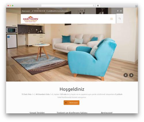Hawthorn best hotel WordPress theme - hawthorncerkezkoy.com
