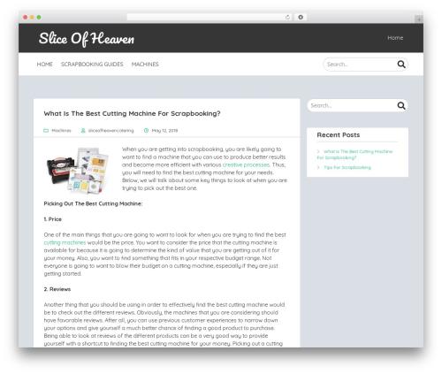 MyStem WordPress theme - sliceofheavencatering.com