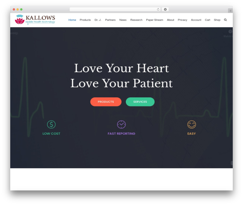 Neve medical WordPress theme - kallows.com