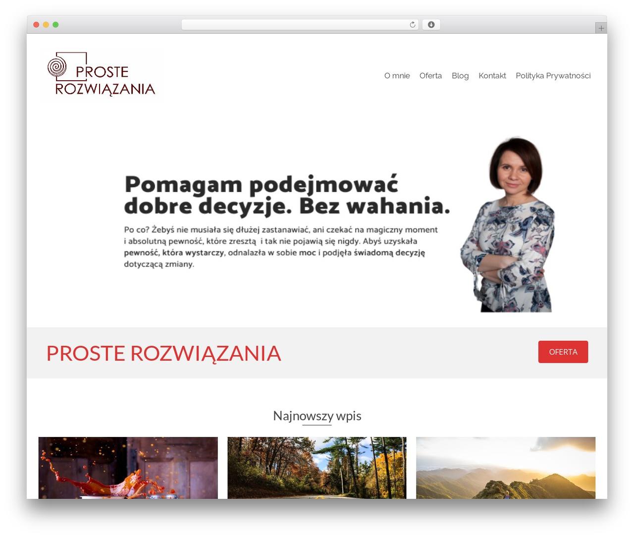 Pinnacle free WP theme - prosterozwiazania.com