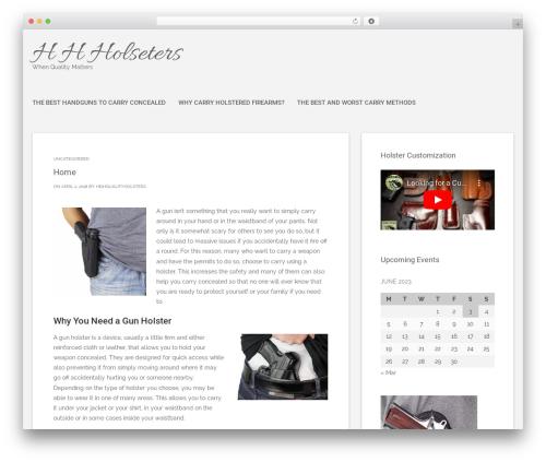 Polar Lite free website theme - hhholsters.com