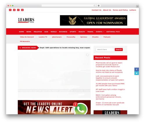 Quadrum Theme premium WordPress theme - theleaders-online.com